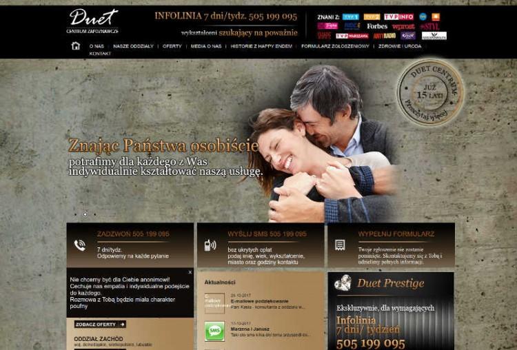 Biuro matrymonialne Duet, posiada swoje siedziby w kilku miastach