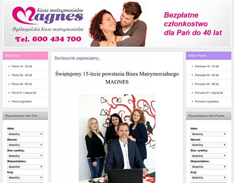 Magnes biuro matrymonialne Poznań oferty dla samotnych